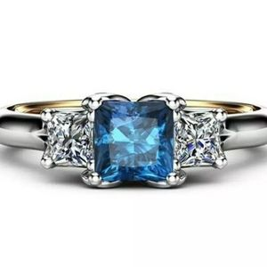 New sterling silver stamped sapphire ring